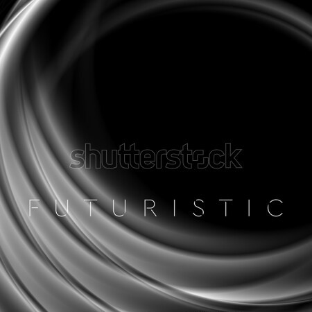 Black abstract smooth waves background Stock photo © saicle