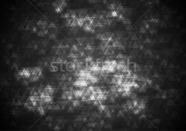 черный Гранж Tech темно вектора шаблон Сток-фото © saicle