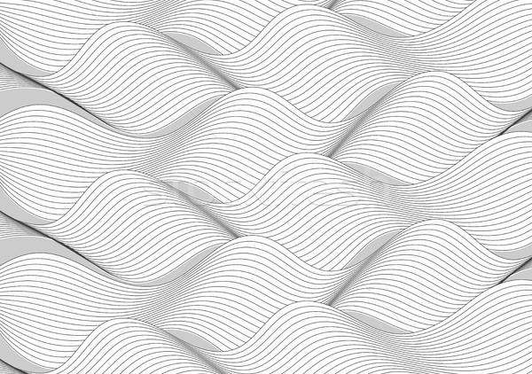 Black and white wavy lines pattern Stock photo © saicle