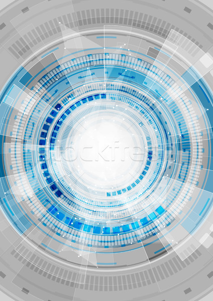 Blue hi-tech abstract gears vector background Stock photo © saicle