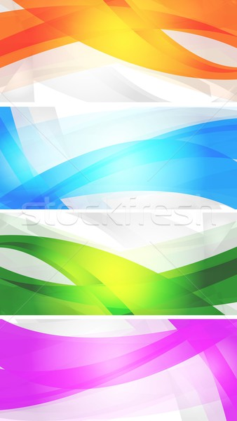 Set of vibrant banners Stock photo © saicle