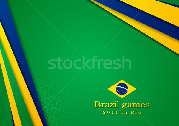 Vector background in Brazilian colors Stock photo © saicle