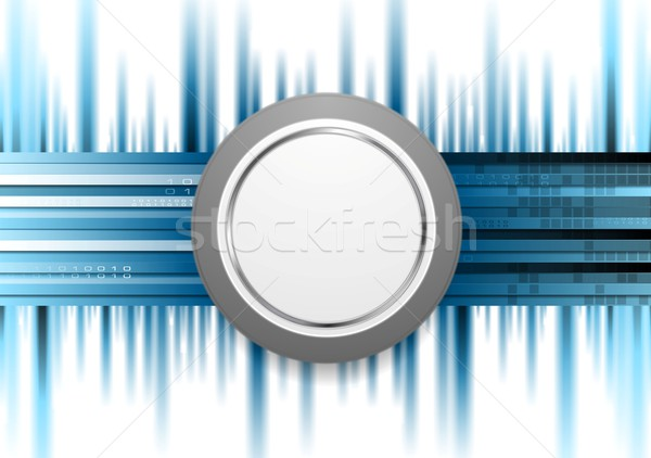 Blue technology background with grey circle Stock photo © saicle