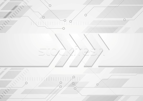 Tech grey abstract background with big arrows Stock photo © saicle