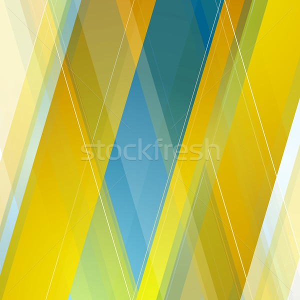 Abstract polygonal geometric blue orange background Stock photo © saicle