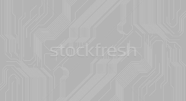 Grigio abstract circuito chip vettore tecnologia Foto d'archivio © saicle