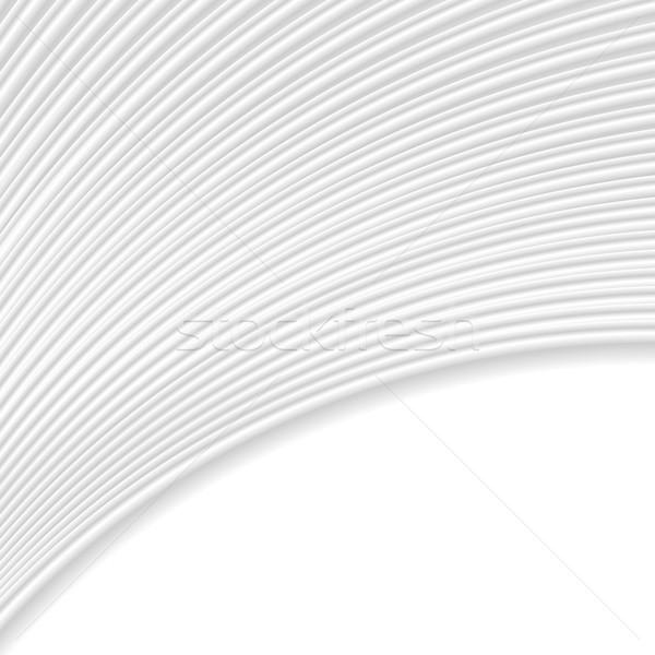 Abstract grey white curved lines and waves Stock photo © saicle