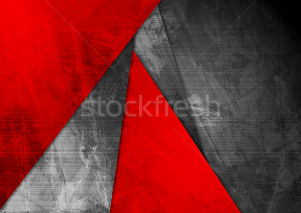 Grunge material red black corporate background Stock photo © saicle