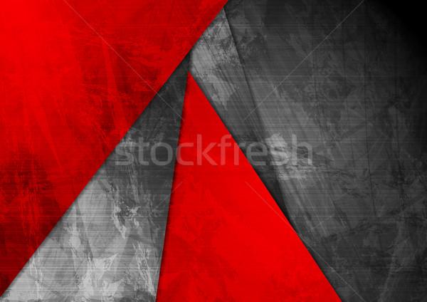 Grunge materiale rosso nero corporate contrasto Foto d'archivio © saicle