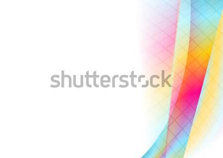 красочный Tech волнистый аннотация вектора Сток-фото © saicle