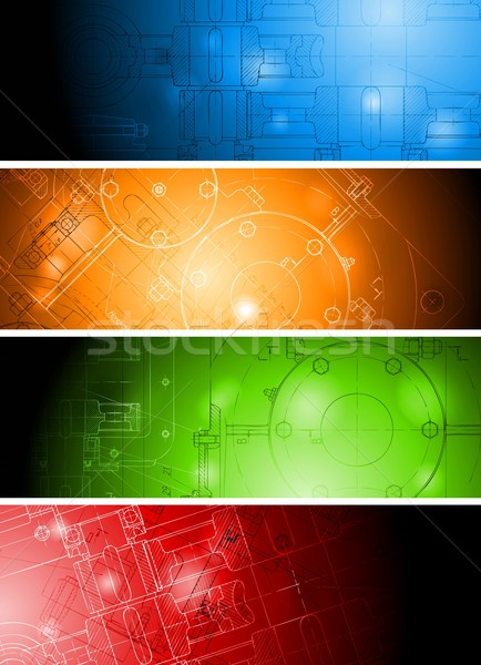 Colourful technical banners Stock photo © saicle