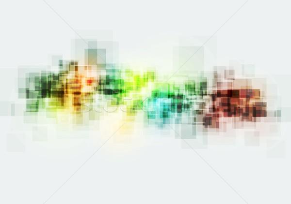 Heldere kleurrijk pleinen vector ontwerp textuur Stockfoto © saicle