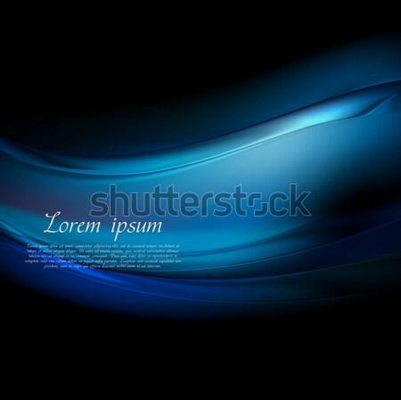 контраст аннотация синий черный волнистый текстуры Сток-фото © saicle