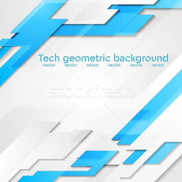 Blue grey hi-tech geometric vector bright background Stock photo © saicle