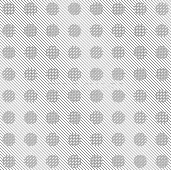 Grey diagonal stripes and circles vector pattern Stock photo © saicle
