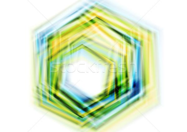 красочный шестиугольник аннотация корпоративного вектора Сток-фото © saicle