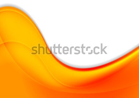 Abstract orange smooth waves vector background Stock photo © saicle