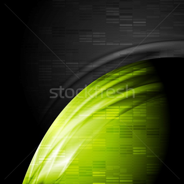 Green and black contrast technology backdrop Stock photo © saicle