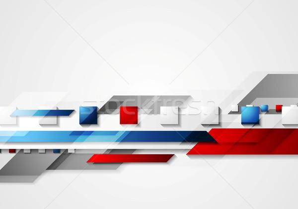 Fényes piros kék vektor terv textúra Stock fotó © saicle