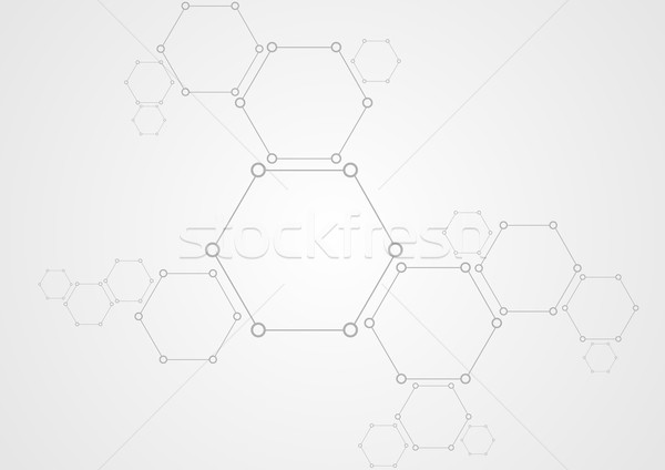Molecular structure abstract tech background Stock photo © saicle