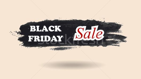 Black friday suluboya afiş dizayn vektör doku Stok fotoğraf © saicle