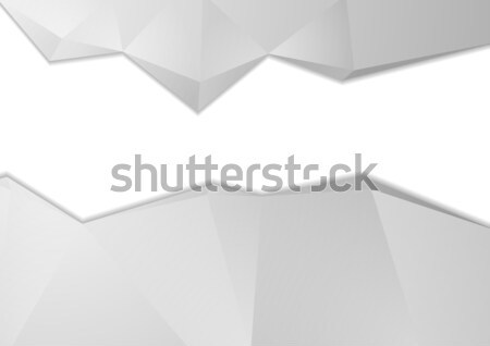 Grey tech abstract polygonal background Stock photo © saicle