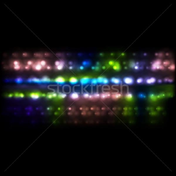 Colorful luminous bokeh festive background Stock photo © saicle