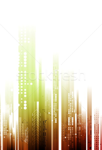 Abstract bright tech geometry background Stock photo © saicle