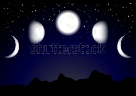 Moon phases (eps 10) Stock photo © saicle
