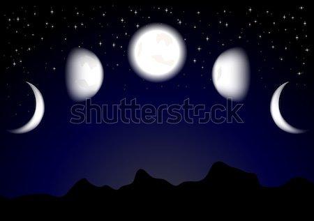 月 eps 10 勾配 可能 透明 ストックフォト © saicle