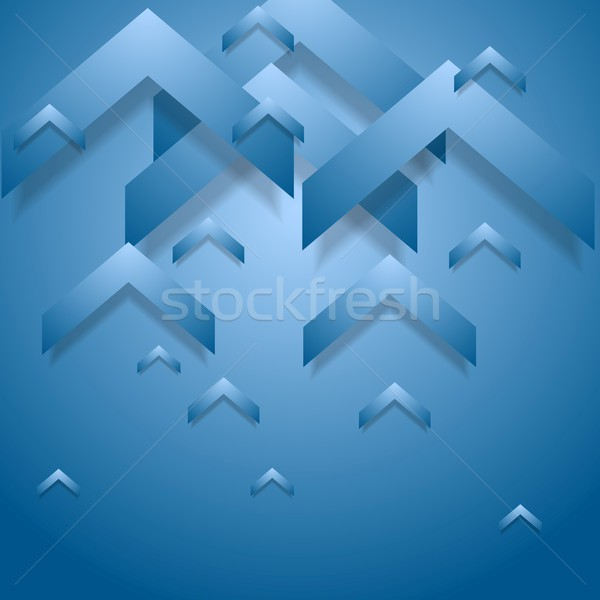 Blue geometry corporate background Stock photo © saicle