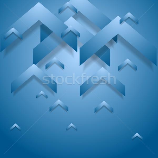 Bleu géométrie entreprise vecteur design texture Photo stock © saicle