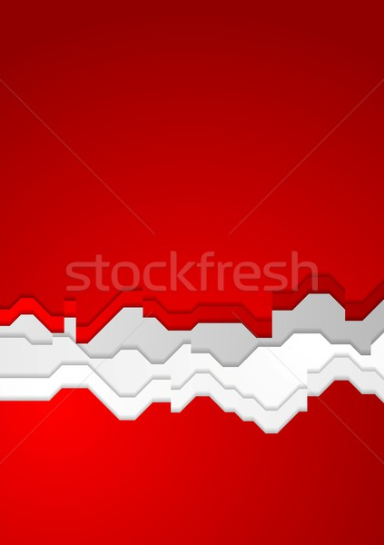Heldere Rood contrast vector abstract ontwerp Stockfoto © saicle