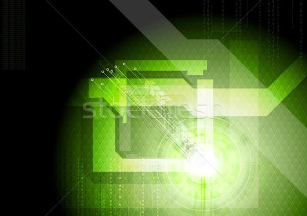 Nowoczesne techniczne zielone wektora elegancki szablon Zdjęcia stock © saicle