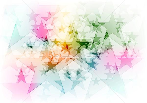 Vibrante colorido brillante estrellas vector diseno Foto stock © saicle