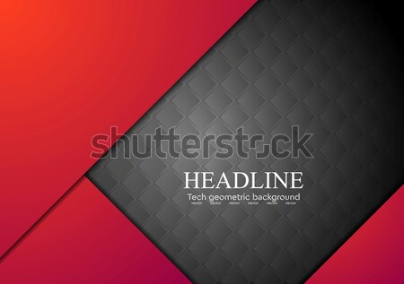 Abstract vector contrast Rood zwarte ontwerp Stockfoto © saicle