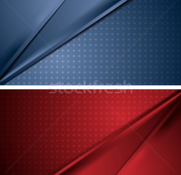 Abstract blue and red soft lines banners Stock photo © saicle