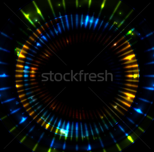 Colorful glowing beams stripes vector illustration Stock photo © saicle