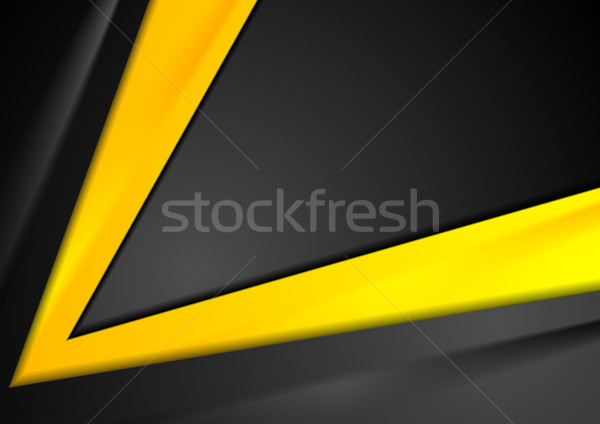 Contrast orange black abstract background Stock photo © saicle