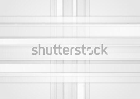 Blanco geométrico tecnología resumen vector Foto stock © saicle