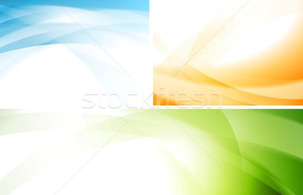 Ondulés vecteur horizons résumé coloré Photo stock © saicle