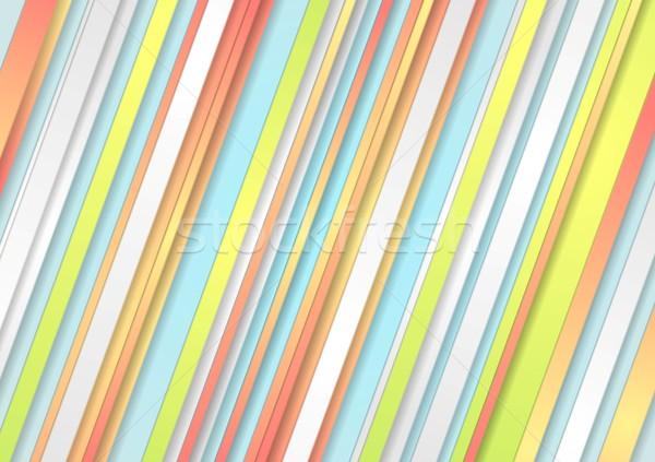 パステル 抽象的な ベクトル テンプレート デザイン ストックフォト © saicle