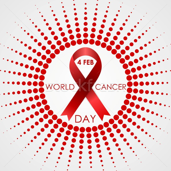 Mundo câncer dia vetor meio-tom sol Foto stock © saicle