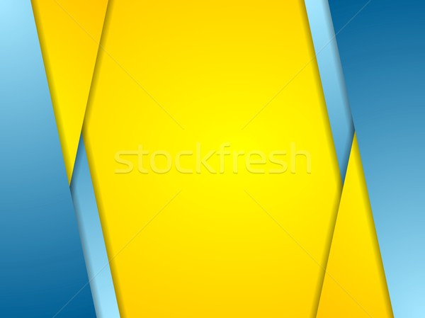 Orange blue contrast corporate background Stock photo © saicle
