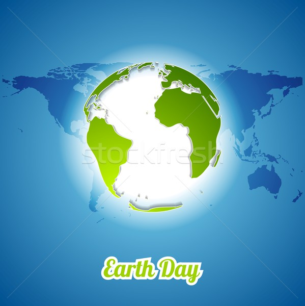 Föld napja zöld földgömb térkép vektor ökológia Stock fotó © saicle