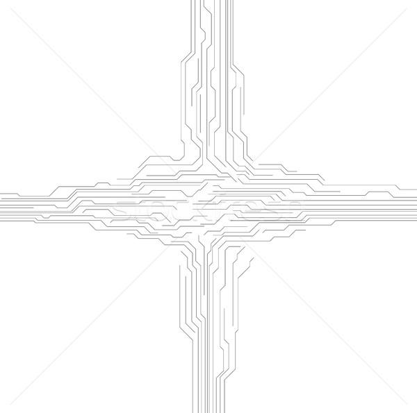 抽象的な 回路基板 要素 グレー 技術 チップ ストックフォト © saicle