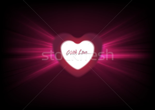 Hearts and glowing luminous effect background Stock photo © saicle