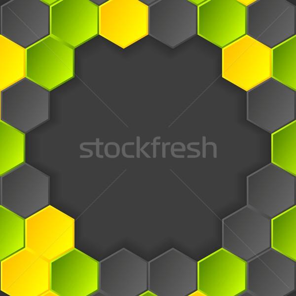 Abstract vector donkere ontwerp textuur licht Stockfoto © saicle