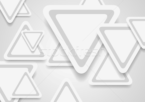 Tech corporate paper background with grey triangles Stock photo © saicle