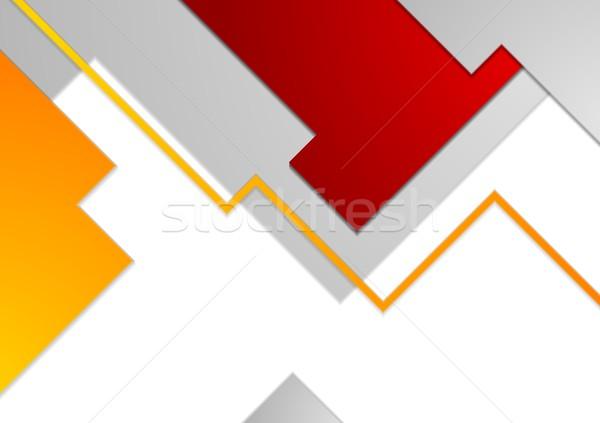 Tech minimalny korporacyjnych broszura szablon działalności Zdjęcia stock © saicle